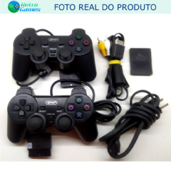 CONSOLE PS2 DESBLOQUEADO (2 CONTROLES) - Retro Games