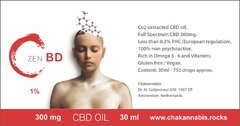 ZenBD CBD by Chakannabis 300mg 30ml