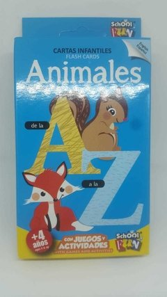 Naipes Educativos School Fun Animales De La A A La Z - comprar online