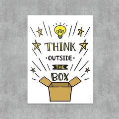 Placa Decorativa Think Outside The Box - comprar online