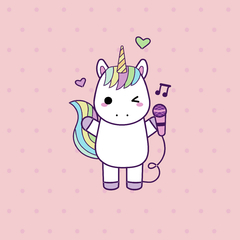 Placa Decorativa Unicornio Baby II