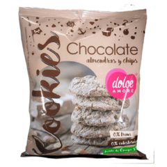 Dolce Amore Cookies de Chocolate con Chips de Chocolate y Almendras