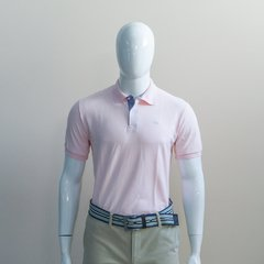 Camiseta Polo Piquet Ogochi Rosa bebê slim fit