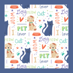 placa 20x20cm MDF 3mm adesivada - Pet Lover