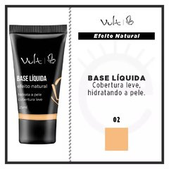 BASE LÍQUIDA VULT EFEITO NATURAL - COR 02 - 25ml na internet