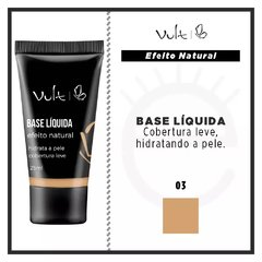 BASE LÍQUIDA VULT EFEITO NATURAL - COR 03 - 25ml na internet