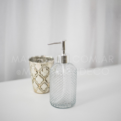 Dispenser de vidrio diamante